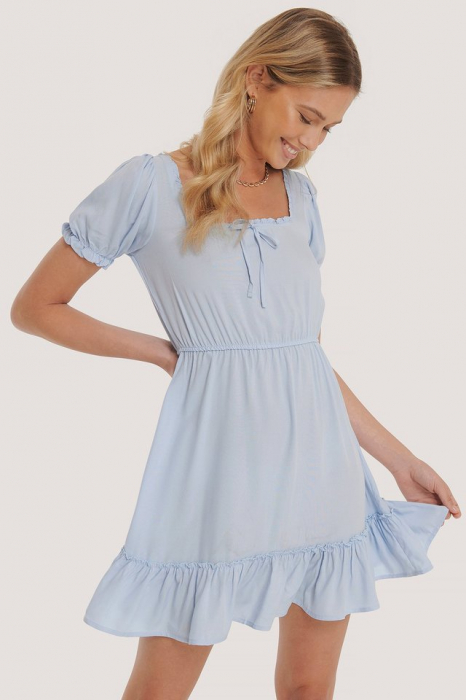 Rochie Puff Sleeve Mini [0]