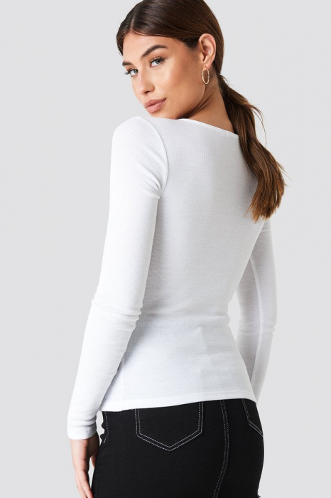 Ribbed Henley Top 1