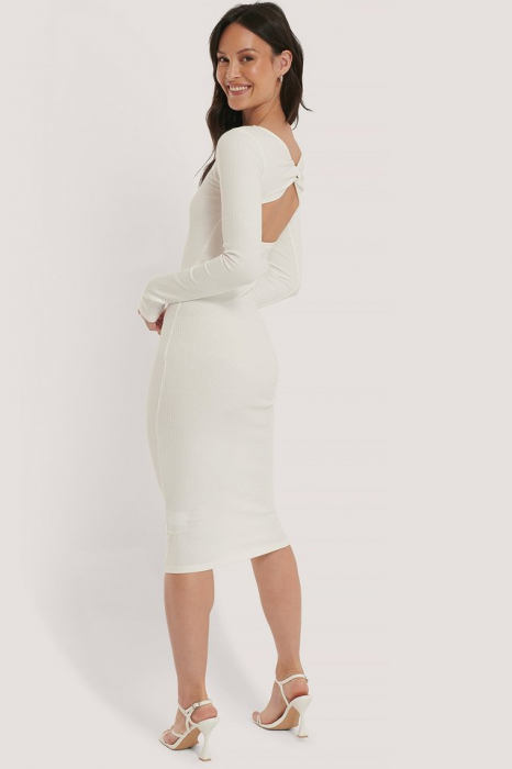 Rochie Ribbed Wrapped Back [1]