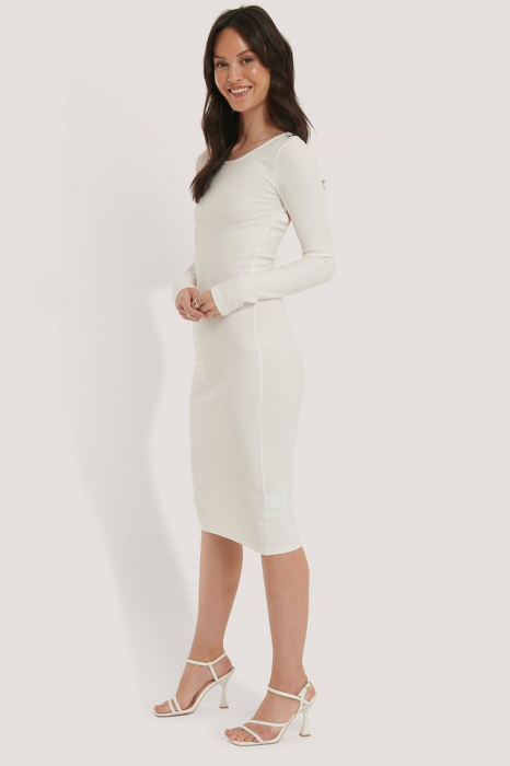 Rochie Ribbed Wrapped Back [0]