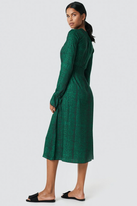 Ruched Detail Midi Dress 1