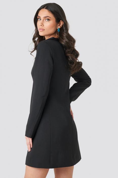 Satin Collar Blazer Dress [1]