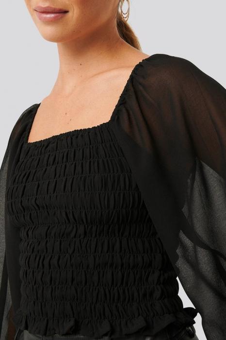 Bluza Shirred Square Neck LS [3]