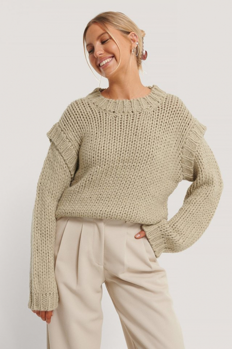 Pulover Wool Blend Shoulder Detail 1