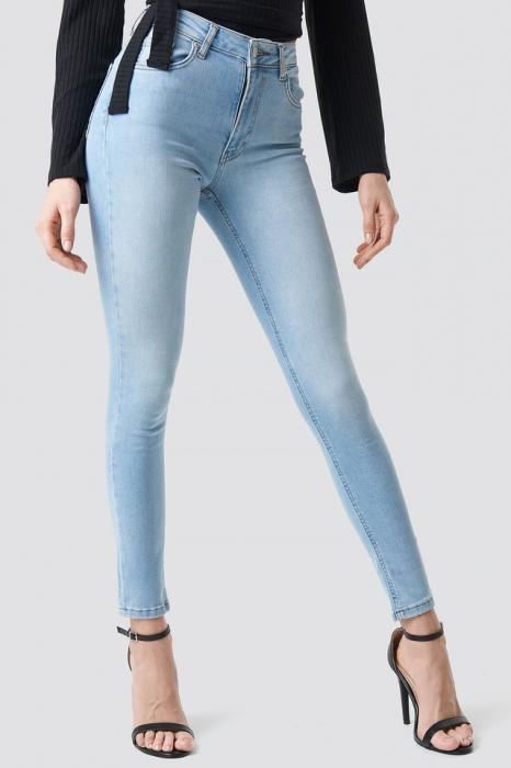 Blugi Skinny Mid Waist Jeans [3]