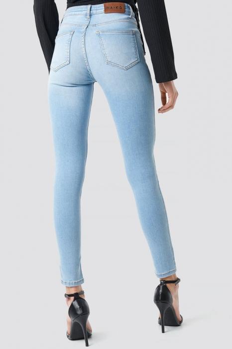 Blugi Skinny Mid Waist Jeans [1]