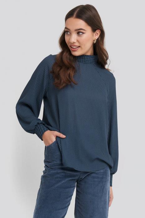 Bluza Smock Detail High Neck [0]