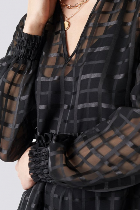 Rochie Square Patterned Flounce [3]