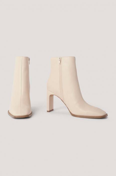 Botine Squared Slanted Toe Boots [1]