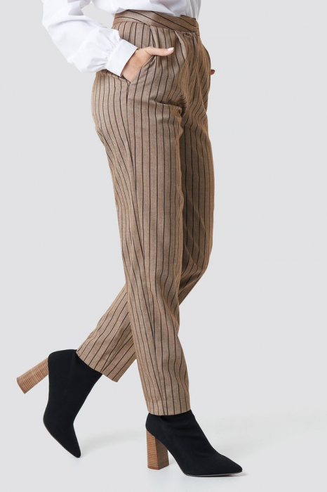 Pantaloni Straight Leg Striped Suit 1