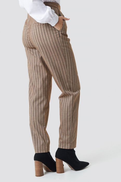 Pantaloni Straight Leg Striped Suit 2