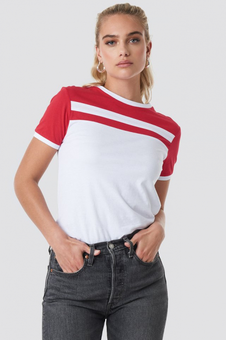 Tricou Stripe Ringer [0]