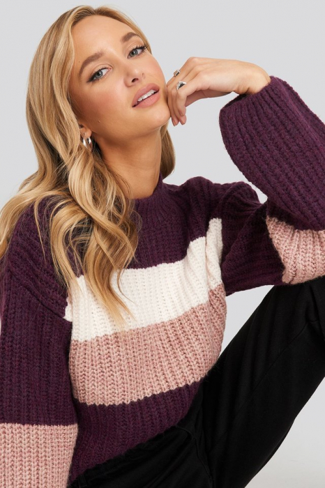 Pulover Striped Chunky 2