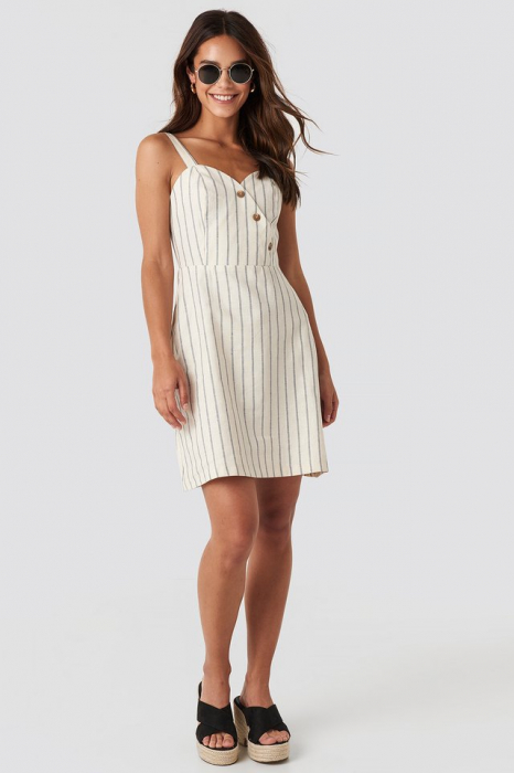 Rochie Striped Linen-Blend [2]