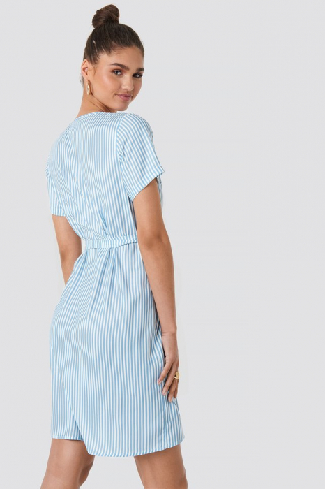 Rochie Striped Wrap Mini B [1]