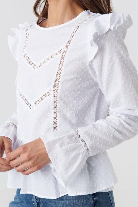 Bluza Swiss Dot Long Sleeve Ruffle [3]