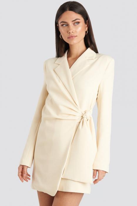 Rochie Sacou Tie Waist Blazer [0]