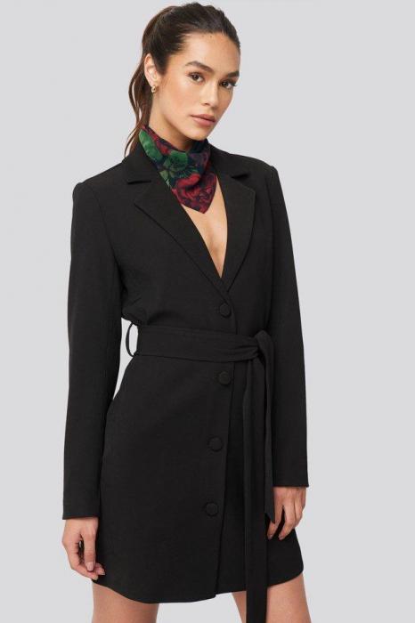 Rochie Tie Waist Short Blazer [0]