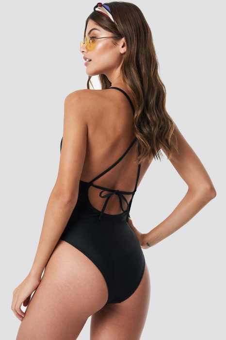 Tied Back Plunge Swimsuit 1