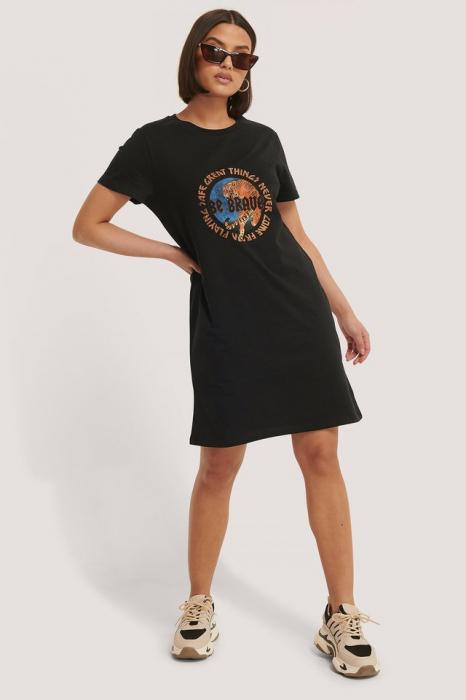 Tricou Tiger Print T-shirt Dress [0]