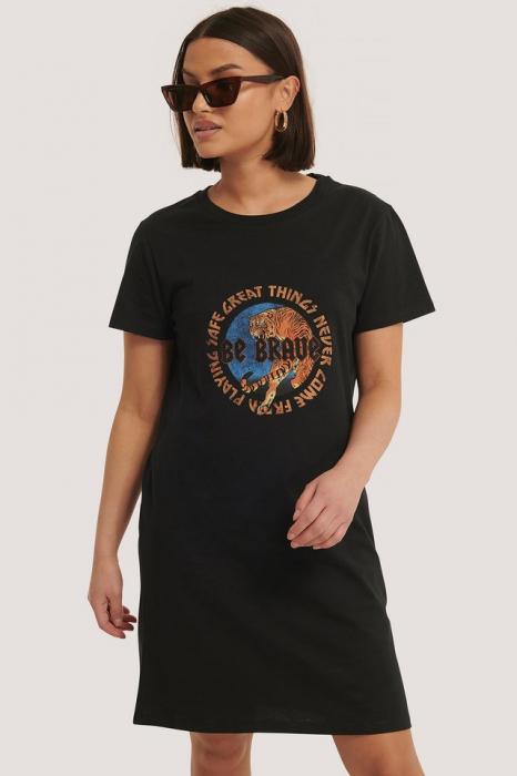 Tricou Tiger Print T-shirt Dress [2]