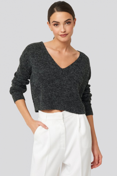 Pulover V-neck  Cropped Knitted [0]