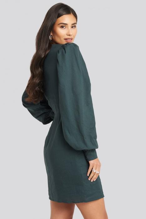 Rochie V-Neck Puff Sleeve 2