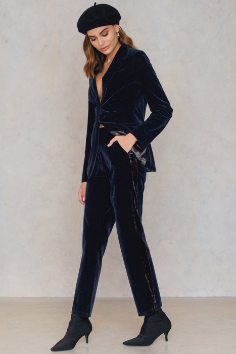 Pantaloni Velvet Striped [0]