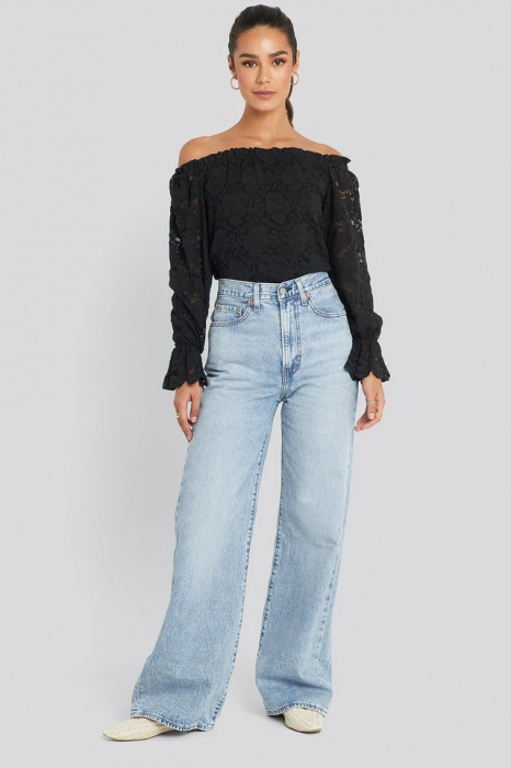 Bluza Wide Cuff Off Shoulder Lace [2]
