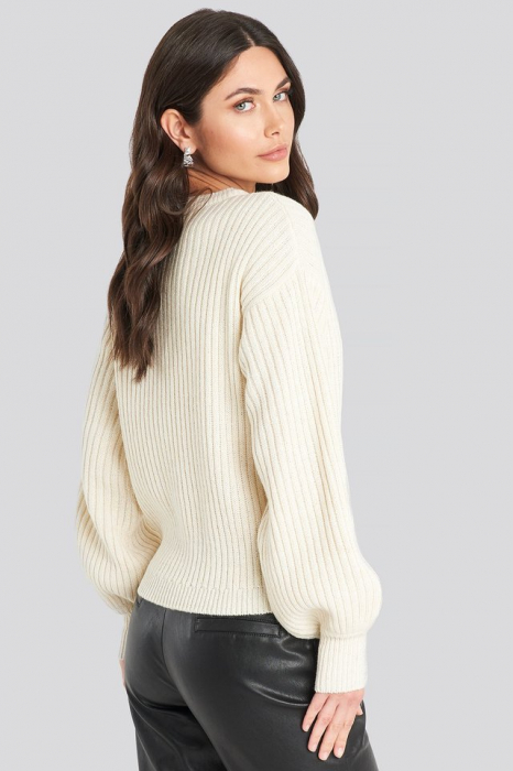 Pulover Wool Blend Ribbed Knitted 2