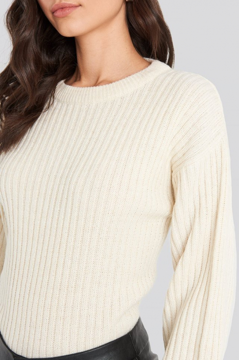 Pulover Wool Blend Ribbed Knitted 1