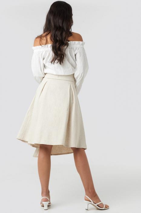 Fusta Wrap Over Linen Look 2