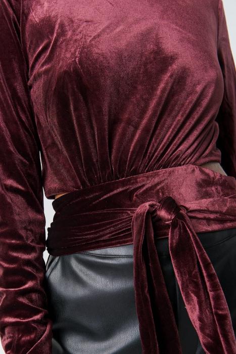Bluza Wrap Waist Velvet Top [3]