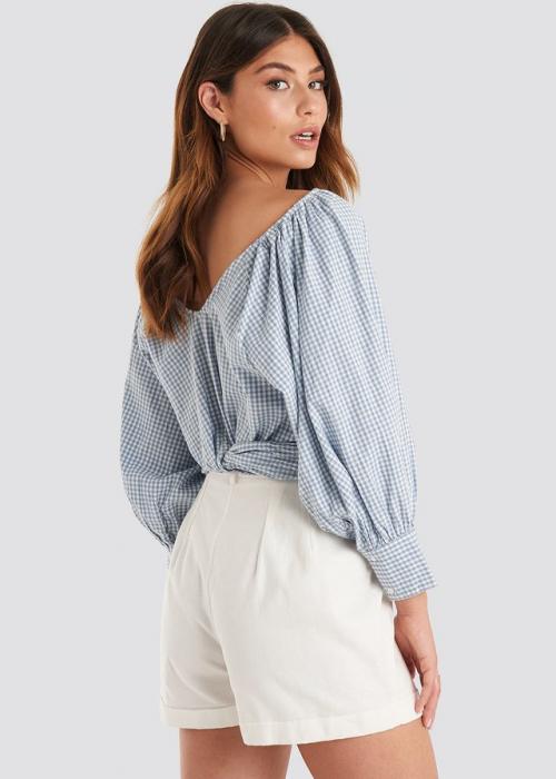 Bluza Wrapped Puff Sleeve [1]