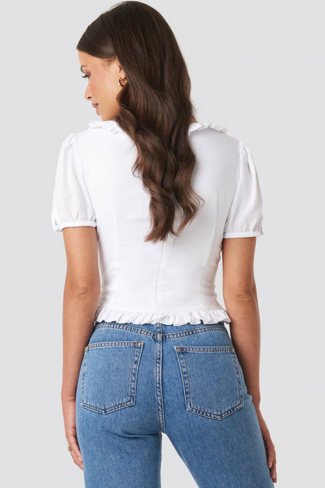 Colleen Cropped Frill Top 1