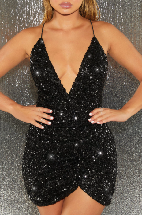 ROCHIE NIGHT FEVER EMBELLISHED WRAP MINI 3