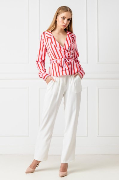 Bluza Striped Wrap 3