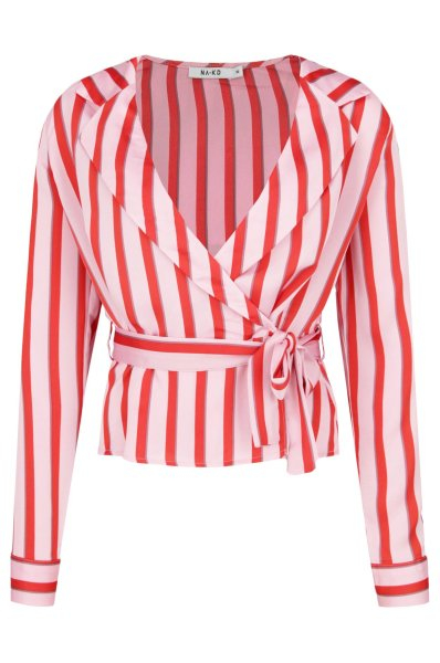 Bluza Striped Wrap 4
