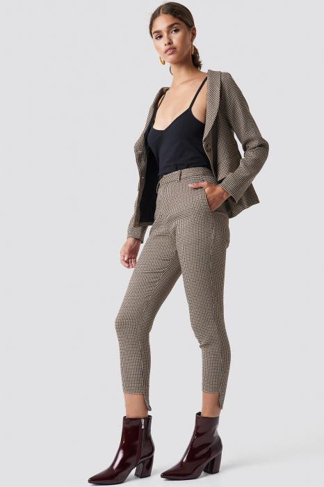 Pantaloni Asymmetrical Hem Suit [1]