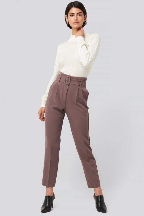 Pantaloni Belted Suit 0