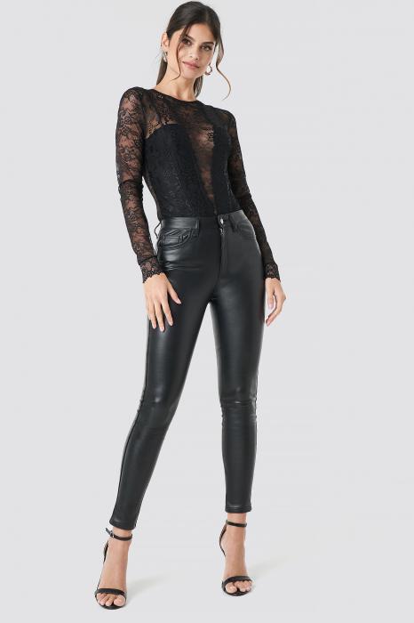 Pantaloni Faux Leather [1]