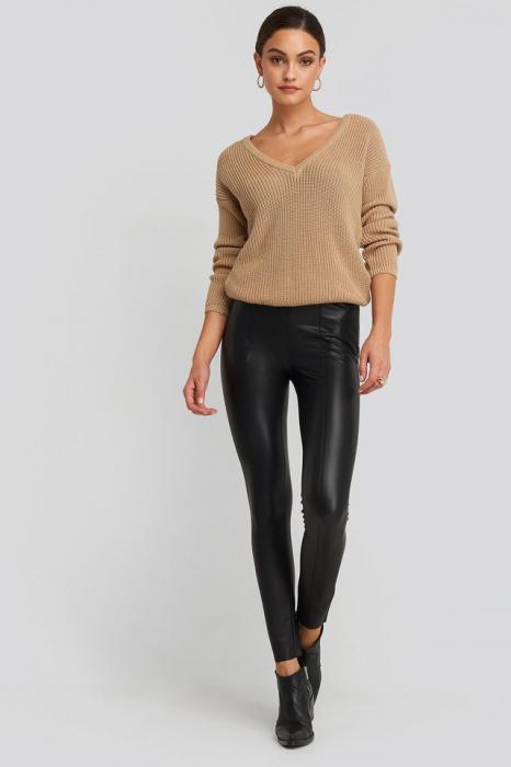 Pantaloni  Seam Detail PU 0