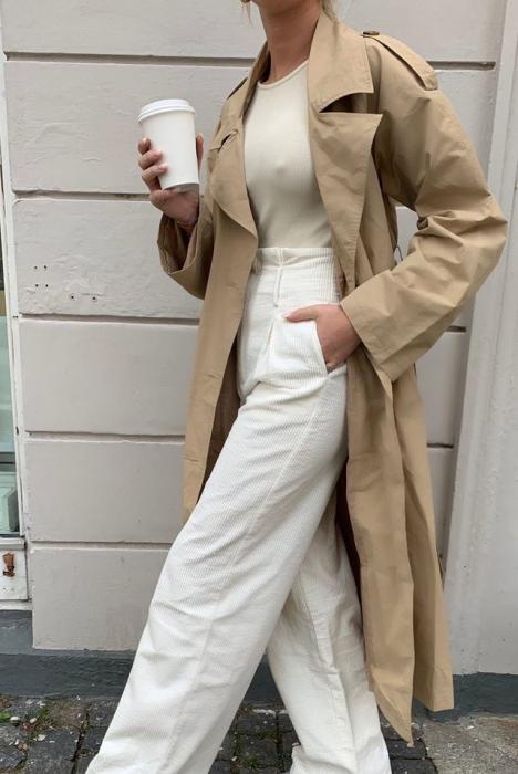 Pantaloni Paper Waist Wide Leg [0]