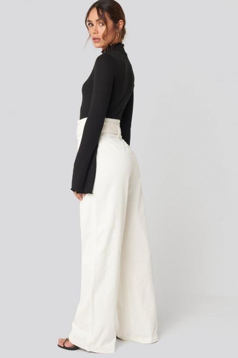 Pantaloni Paper Waist Wide Leg [4]