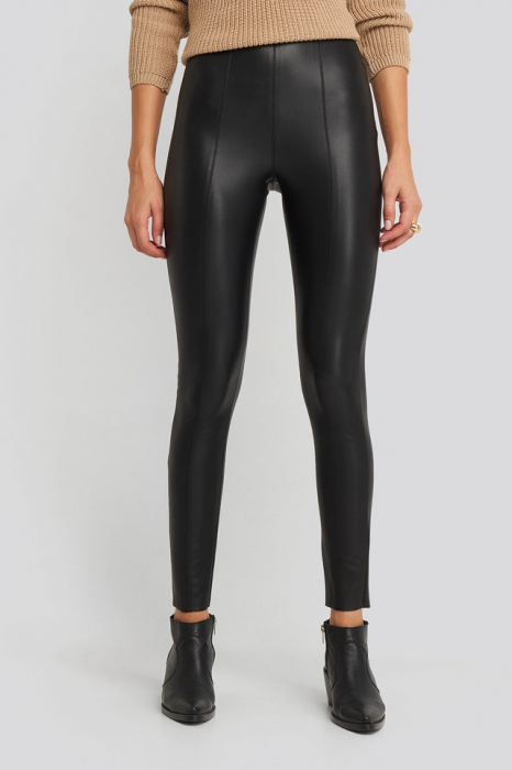 Pantaloni  Seam Detail PU 2