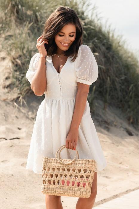 Rochie Puff Sleeve Mini Dress 0