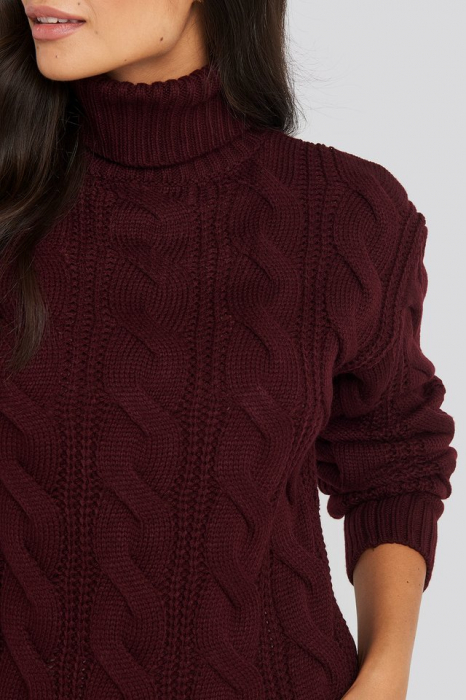 Pulover Polo Neck Cable Knitted [2]