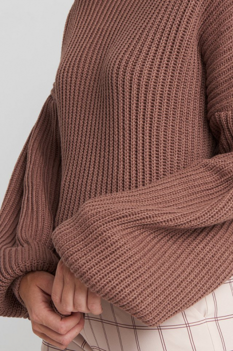 Pulover Balloon Sleeve Knitted [3]