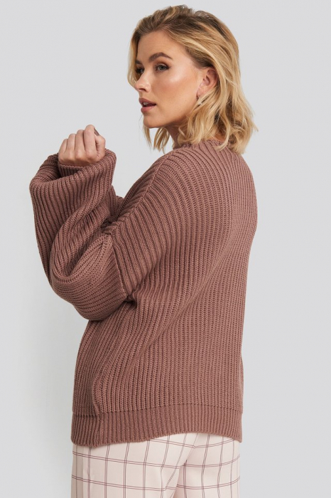 Pulover Balloon Sleeve Knitted [1]