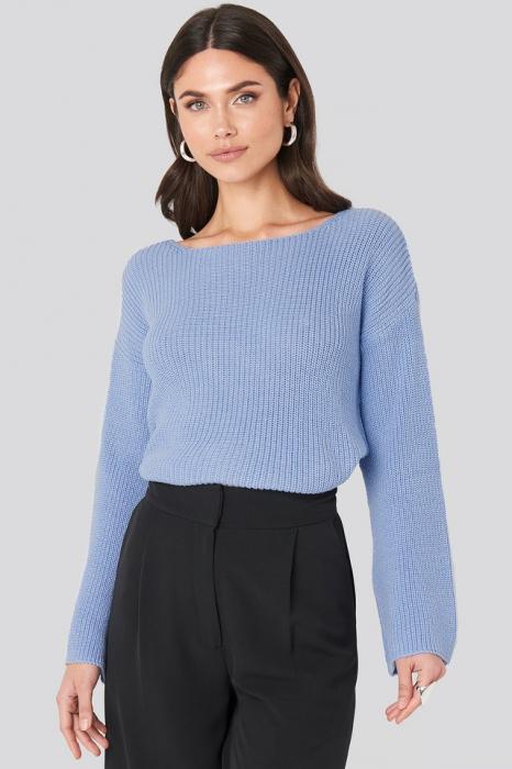 Pulover tricotat cu mânecă lungă 0